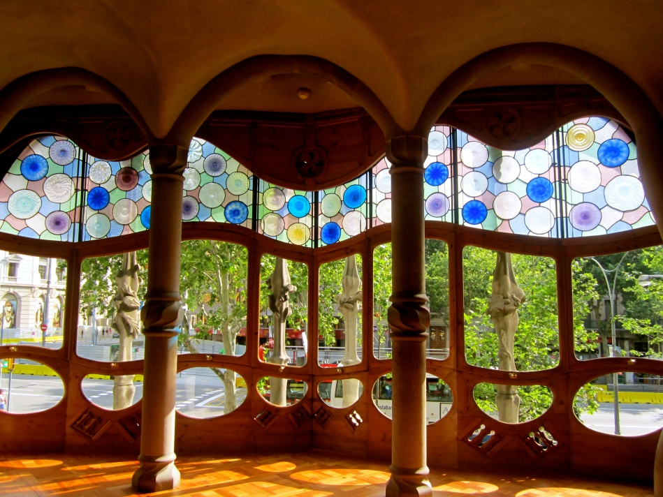Stained glass, Casa Battlo