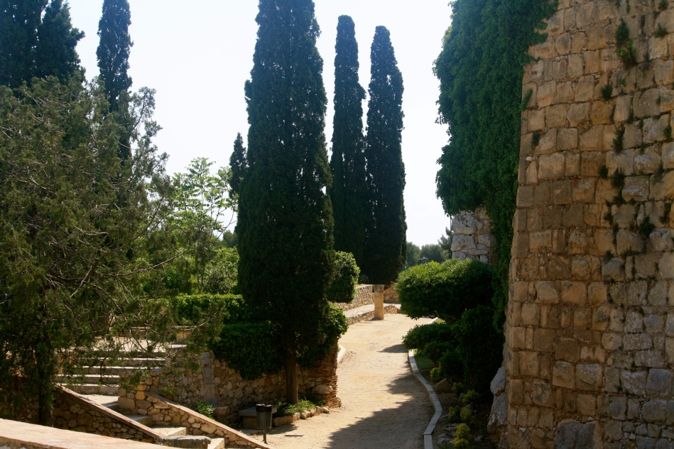 Path along the ancient city walls