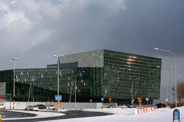 Harpa sparkling in the sun