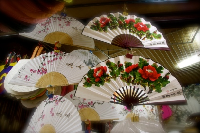 Hand painted fans in Insadong