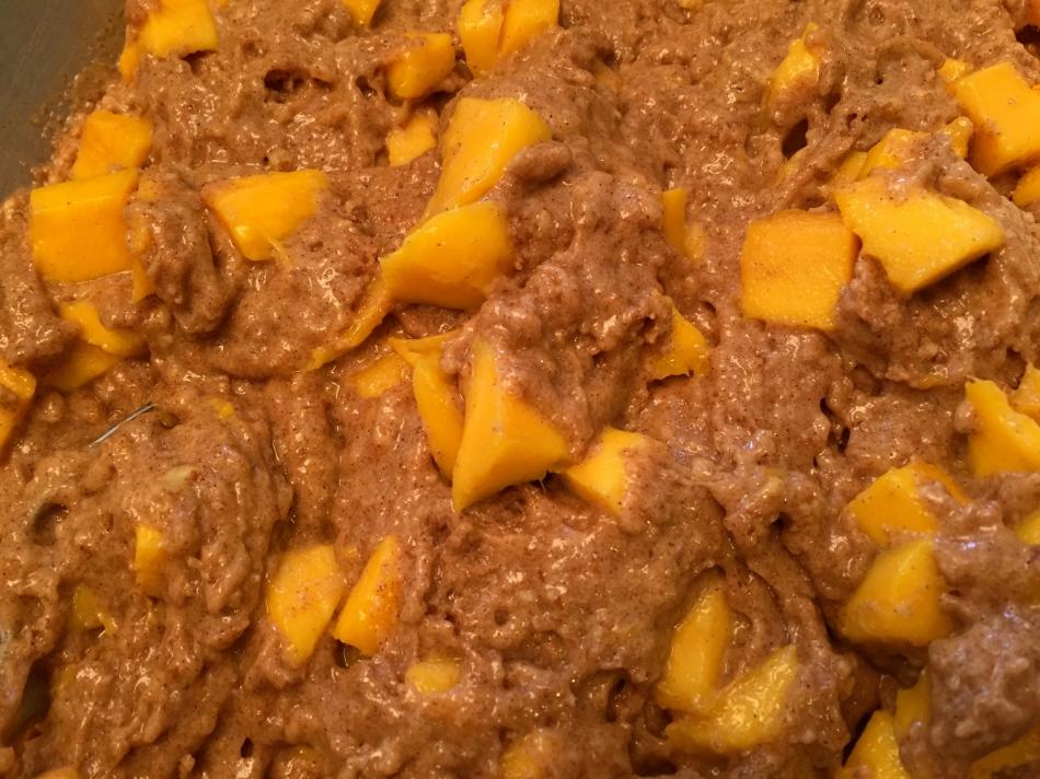 Mango bread batter