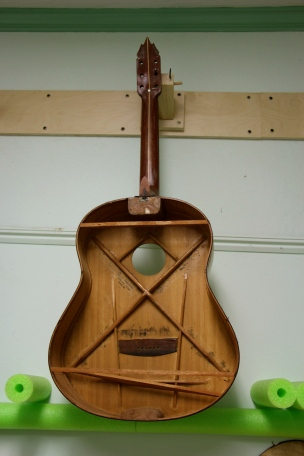 Internal bracing helps support the structure of a guitar
