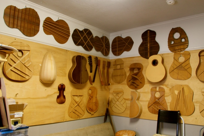 Insides of guitar bodies