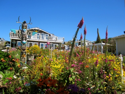 Enchanted garden, Mendocino, California