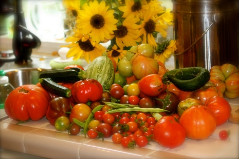 Tomatoes on counter