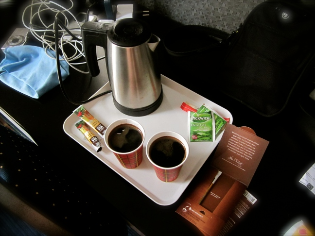 Coffee in the morning in hotel room