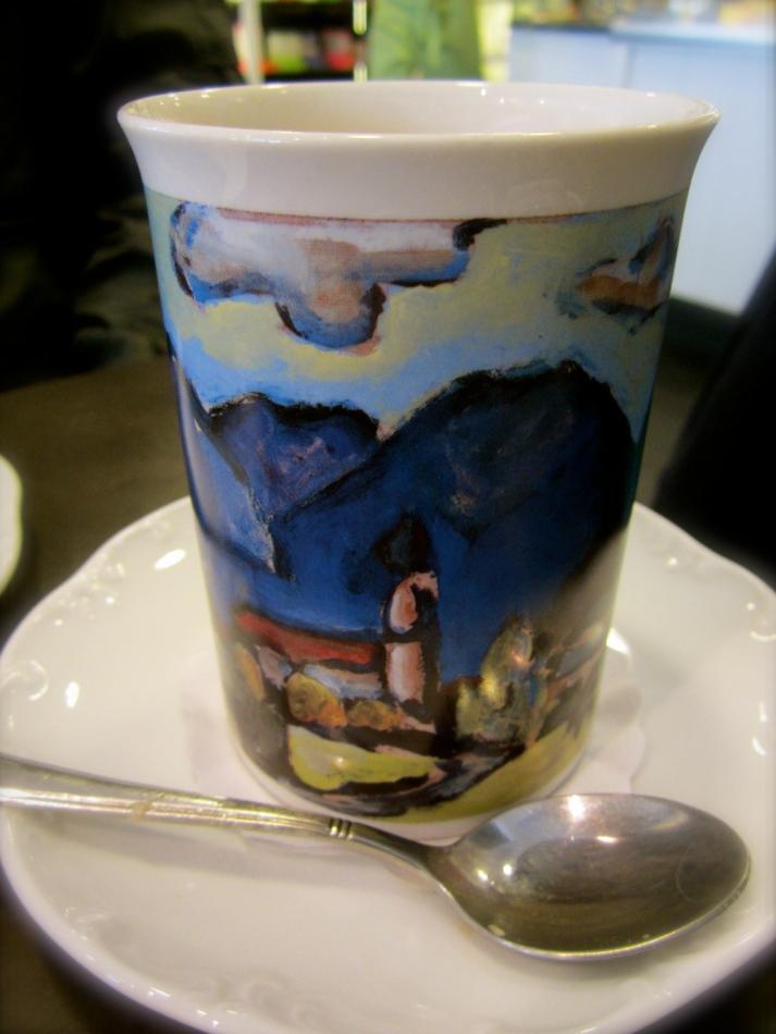 Kaffeetrinken in Oberammergau.