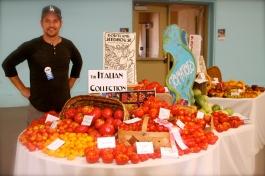 Evan with his award winning harvest