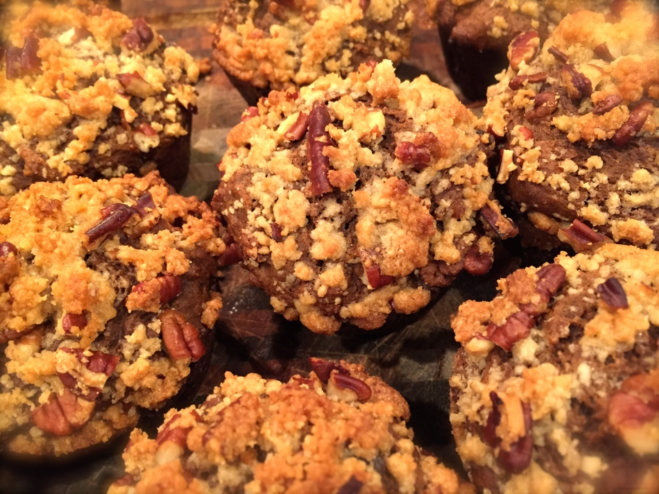Pumpkin Muffins with Chocolate Chips and Streusel