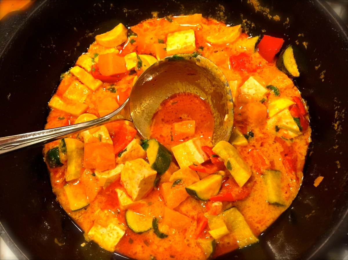 Tasty Tuesday ... Vegan Thai Pumpkin Curry